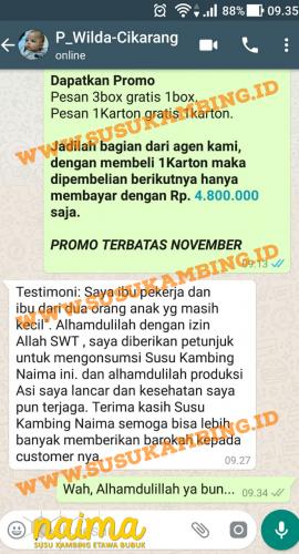 Testimoni Susu Naima 2   www.susukambing.id