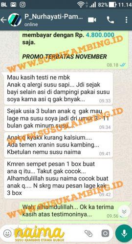 Testimoni Susu Naima 1
